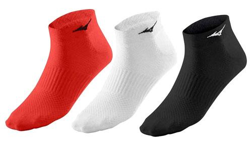 Pack 3 calcetines MIZUNO TRAINING MID blanco, negro y naranja 67XUU95055