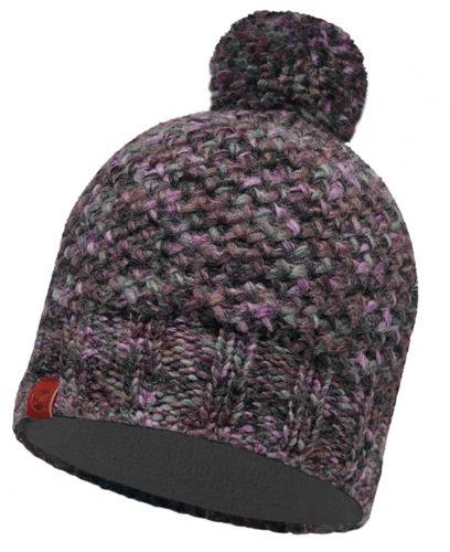 Gorro KNITTED & POLAR HAT BUFF® morado y gris 113513.622.10.00