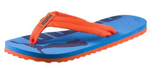 Sandalia de dedo de niño PUMA EPIC FLIP V2 JR azul y naranja 360288-06