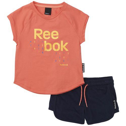 Conjunto de niña REEBOK ESSENTIALS coral y marino BK4370