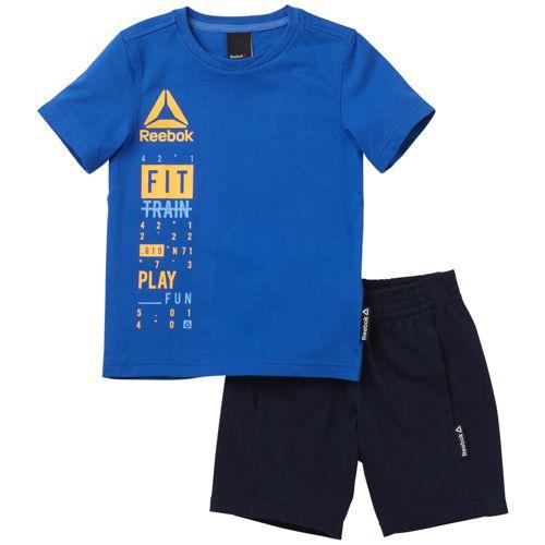 Conjunto de niño REEBOK ESSENTIALS azul y marino BK4380