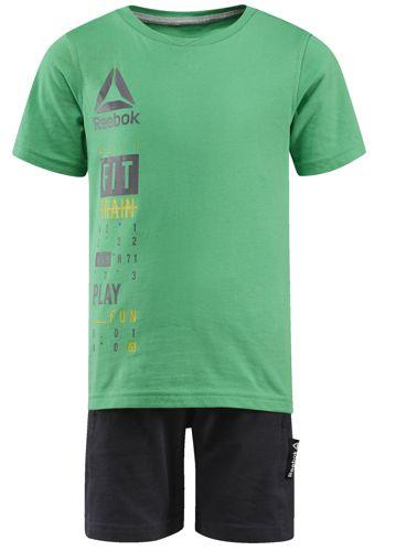 Conjunto de niño REEBOK ESSENTIALS verde y gris BK4383
