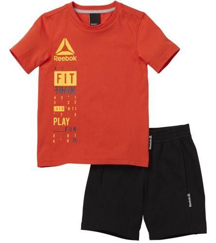 Conjunto de niño REEBOK ESSENTIALS naranja y negro BK4384