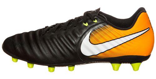 Bota de fútbol NIKE TIEMPO LIGERA IV AG PRO negra y naranja 897743-008