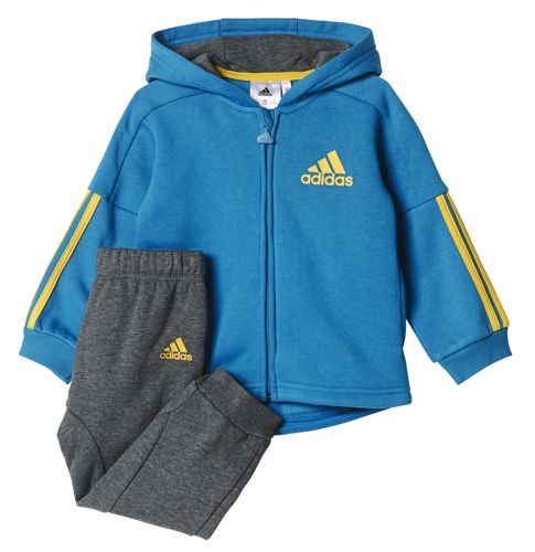 Chandal de bebé ADIDAS FLEECE FULL ZIP azul y gris CE9681