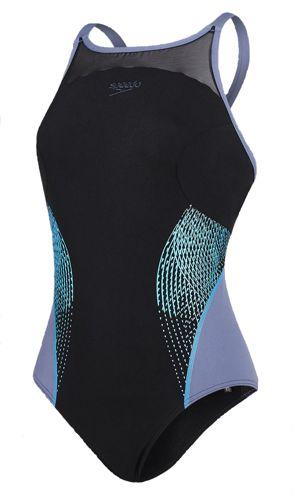 Bañador de piscina de mujer SPEEDO FIT SPLICE XBACK negro 8-10830B742