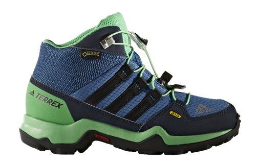 Bota de montaña de niño ADIDAS TERREX MID GTX K azul y verde BB1953