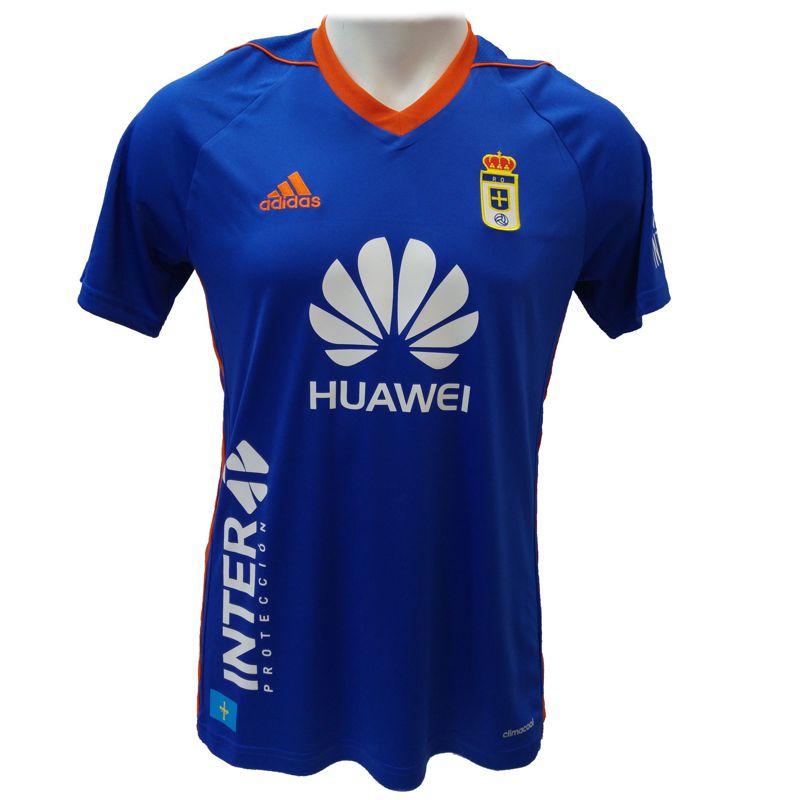 Camiseta ADIDAS REAL OVIEDO 1ª EQUIPACION 2017/2018 azul CI3169