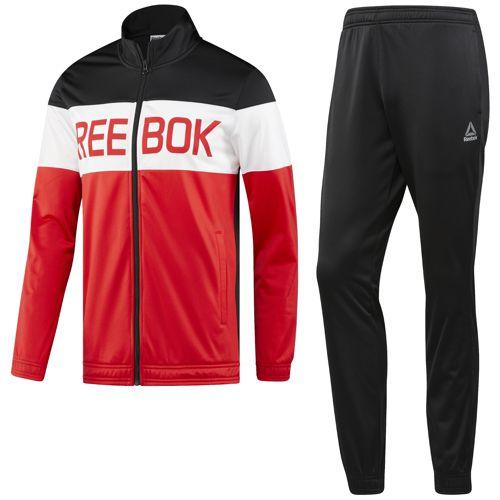 Chandal REEBOK TS CUFFED rojo y negro BQ5742