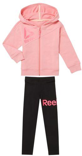 Chandal de niña REEBOK ESSENTIALS rosa y negro CF4241/CF4255