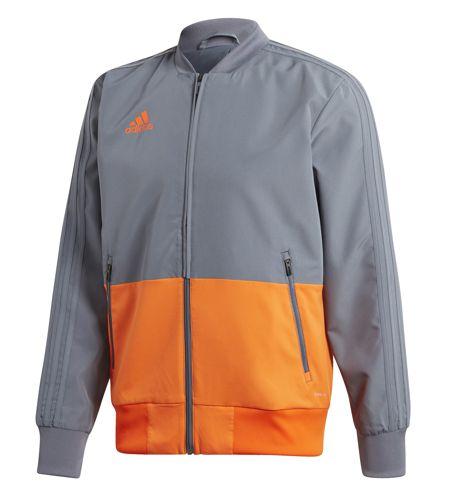 Chaqueta ADIDAS CONDIVO 18 gris y naranja CF4312