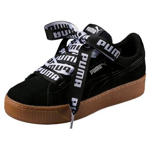 Zapatillas de mujer PUMA VIKKY PLATFORM RIBBON BOLD negras 365314_01