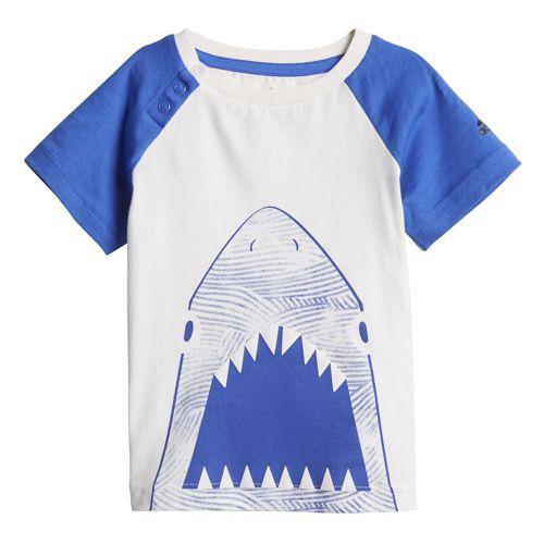 Conjunto camiseta y bermuda de niño ADIDAS SUMMER FUN blanco y azul