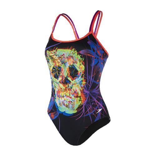 Bañador de mujer SPEEDO FLIPTURNS DOUBLE CROSSBACK negro estampado 8-10626C243
