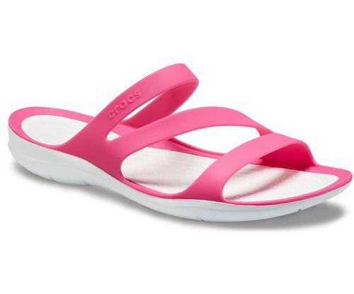 Sandalia de mujer CROCS SWIFTWATER SANDAL rosa y blanca 203998_6NR