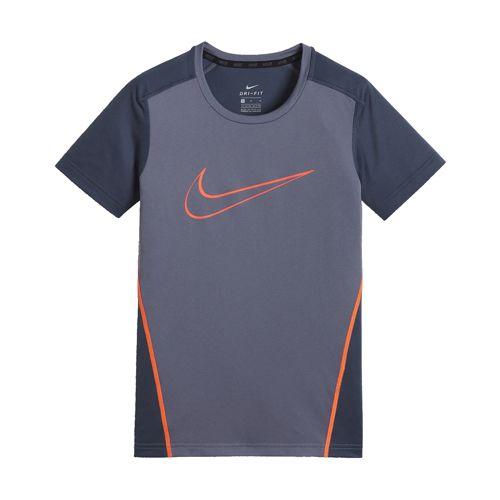 Camiseta de niño NIKE DRI-FIT TOP gris y negro 892514-011