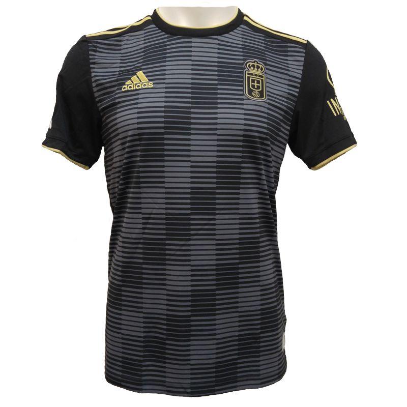 Camiseta réplica 2ª equipación ADIDAS REAL OVIEDO 2018/2019 negra C8711