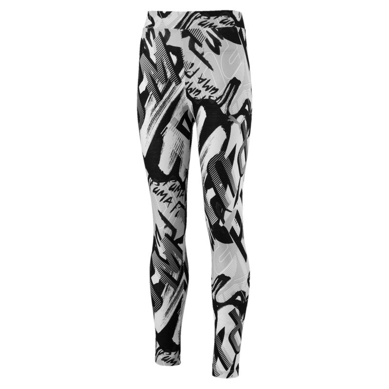 Leggings de niña PUMA STYLE blancos y negros 851836-02
