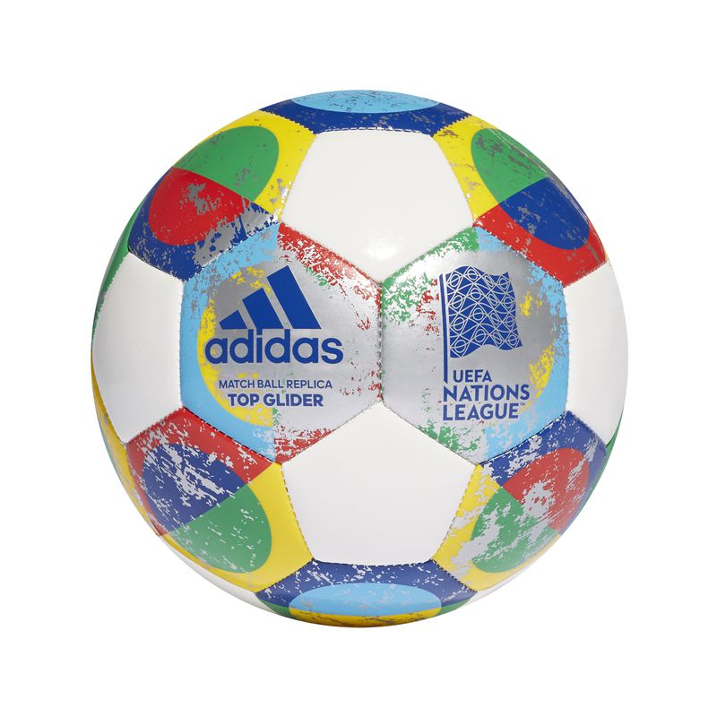 Balón fútbol ADIDAS UEFA TOP GLIDER blanco y varios CW5268