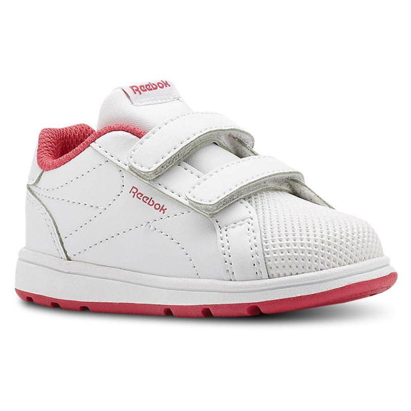 Zapatillas bebé REEBOK ROYAL COMPLETE CLEAN blanco y rosa CN4824