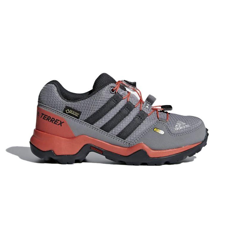 Zapatillas montaña ADIDAS TERREX GTX gris y naranja CM7705
