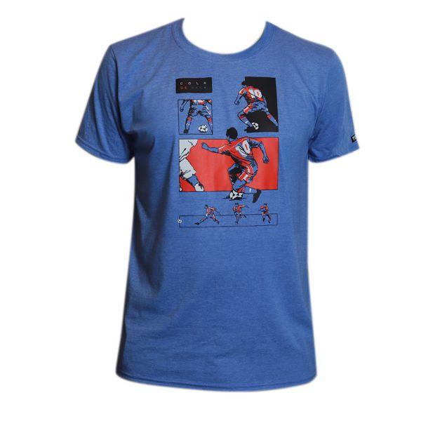 Camiseta manga corta TANKO COLA DE VACA azul C-30
