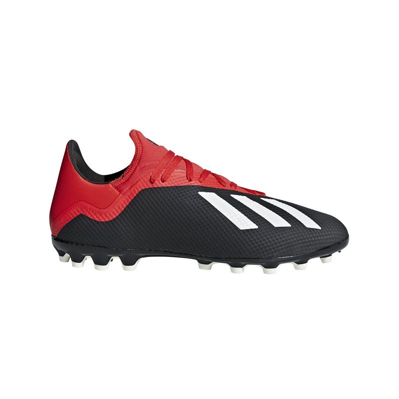 Botas fútbol multitaco ADIDAS X 18.3 AG negra y roja F36627