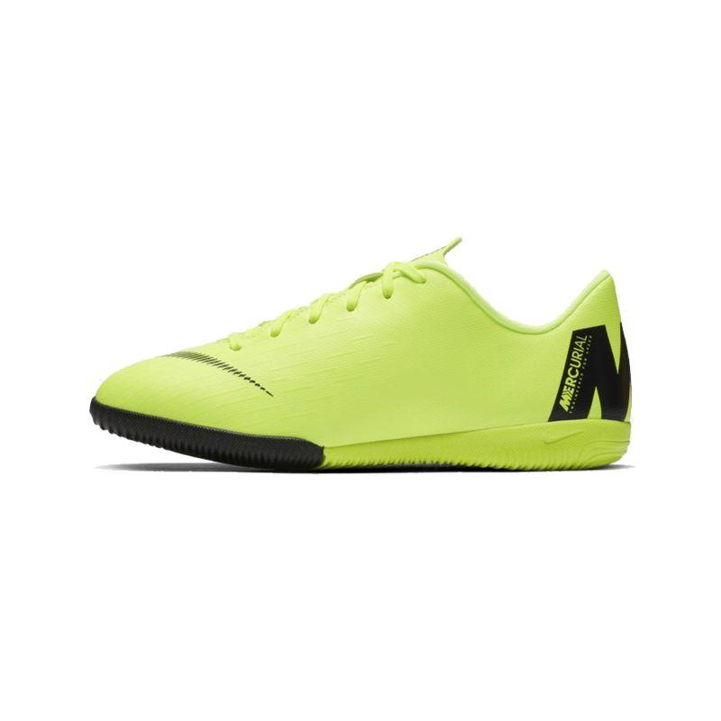Botas de fútbol sala de niño-a NIKE JR MERCURIALX VAPOR XII ACADEMY verde fluor AJ3101-701