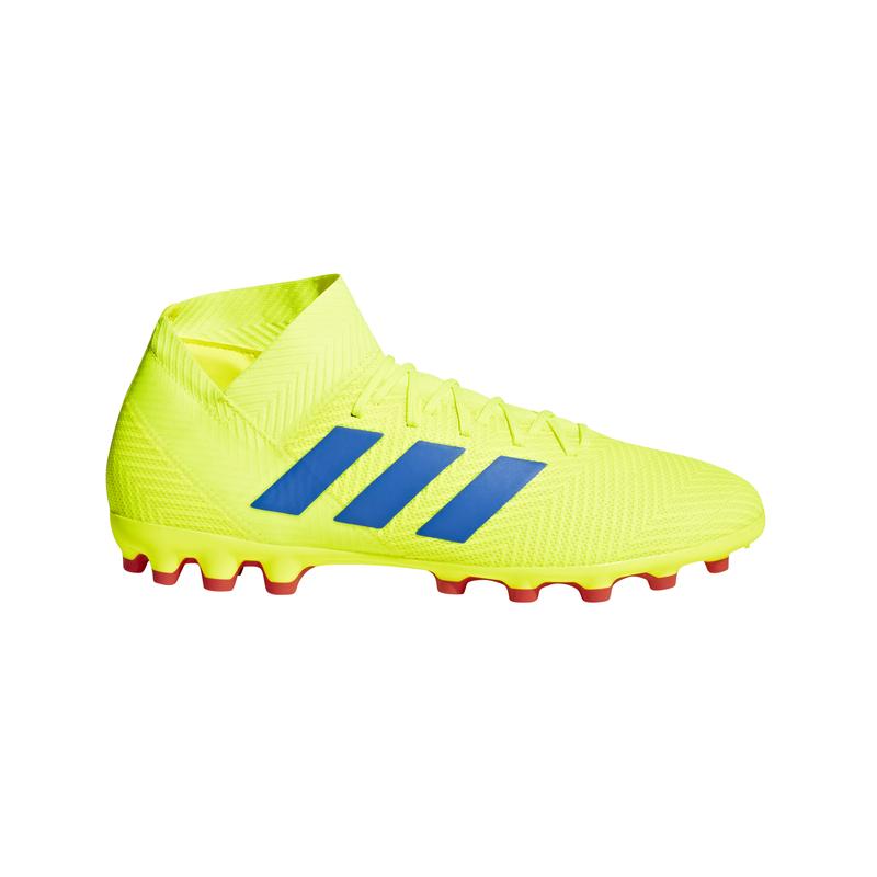 Bota fútbol multitaco ADIDAS NEMEZIZ 18.3 AG amarilla flúor BC0311