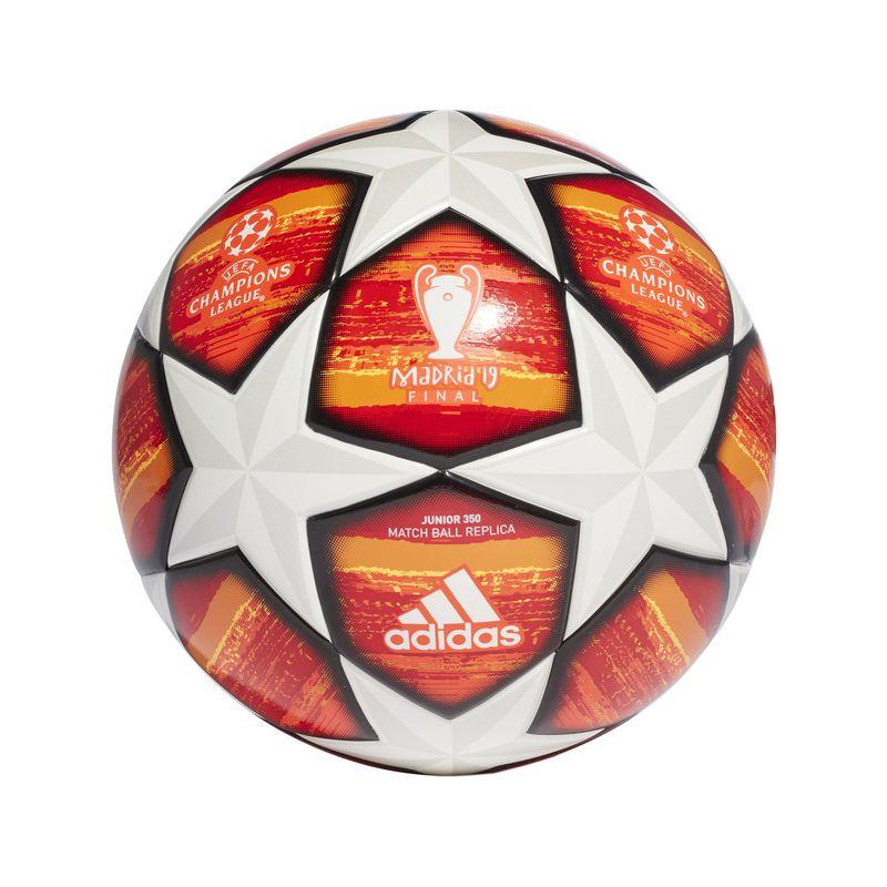 Balón de fútbol ADIDAS UCL FINALE MADRID JUNIOR 350 blanco y naranja DN8681