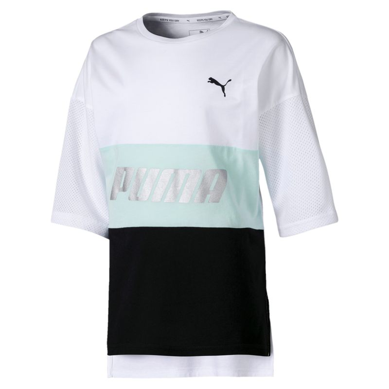 Camiseta de niña PUMA MODERN SPORTS blanca y negra 843680-52