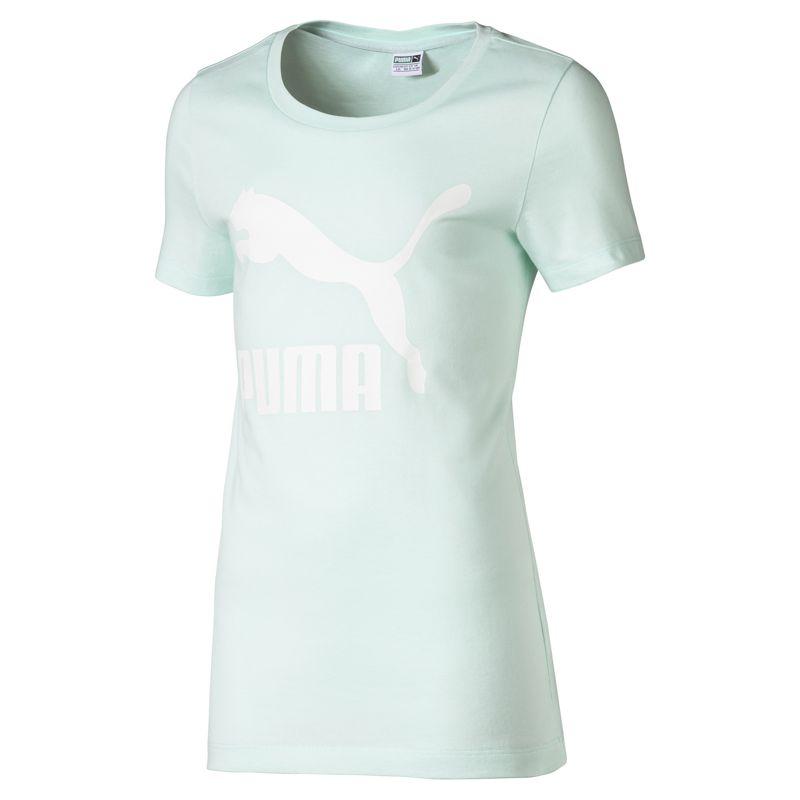 Camiseta de niña PUMA CLASSICS LOGO verde agua 853241-34