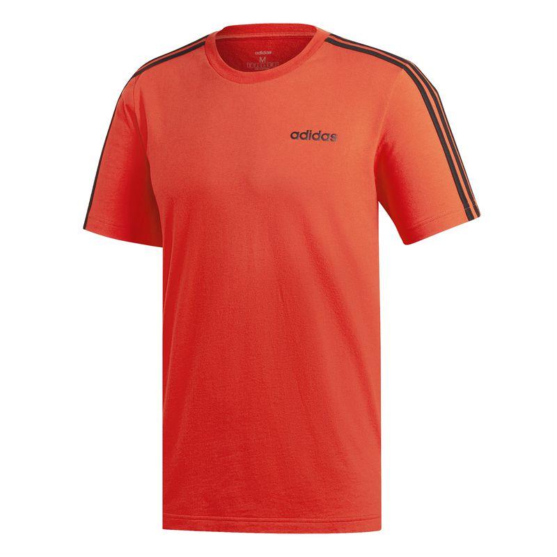 Camiseta ADIDAS ESSENTIALS 3S roja y negra DU0444