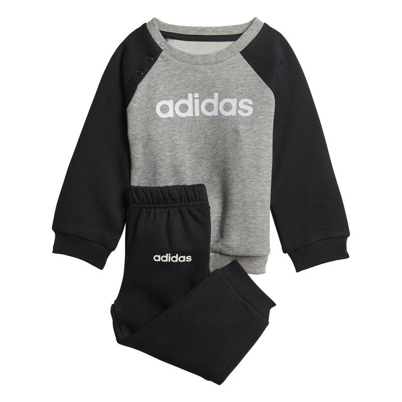 Chándal bebé ADIDAS LINNEAR FLEECE JOGGER gris y negro DV1266