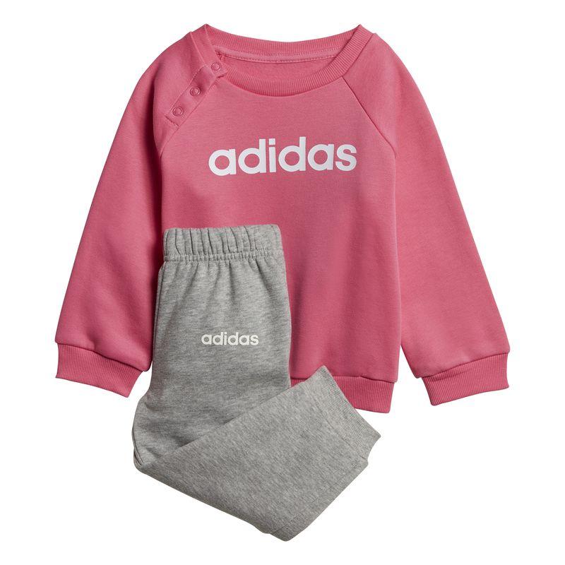 Chándal bebé ADIDAS LINNEAR FLEECE JOGGER rosa y gris DV1287
