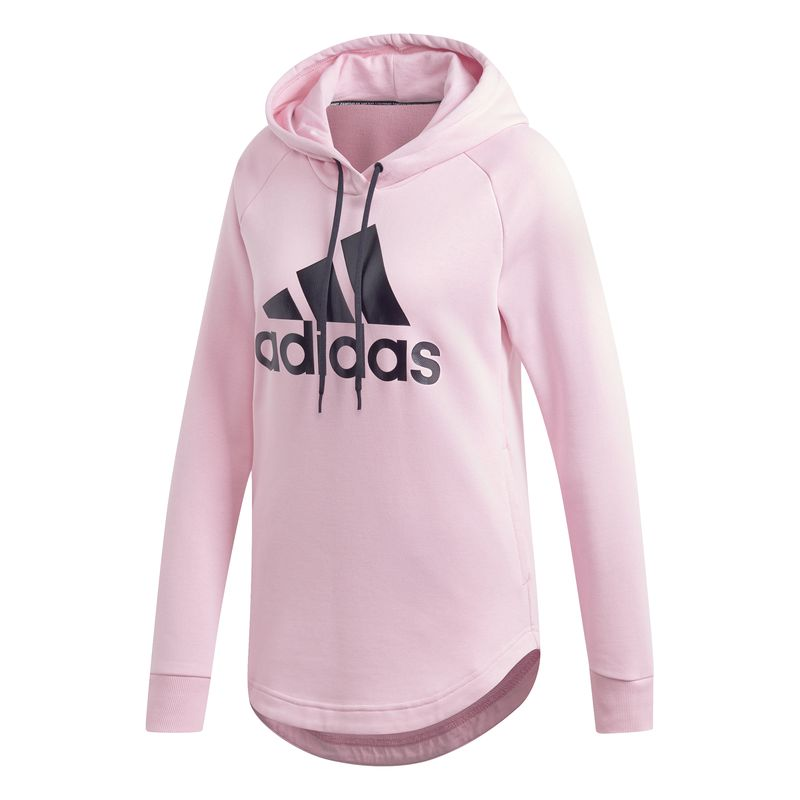 Sudadera de mujer ADIDAS MUST HAVES BADGE OF SPORTS rosa DX2536