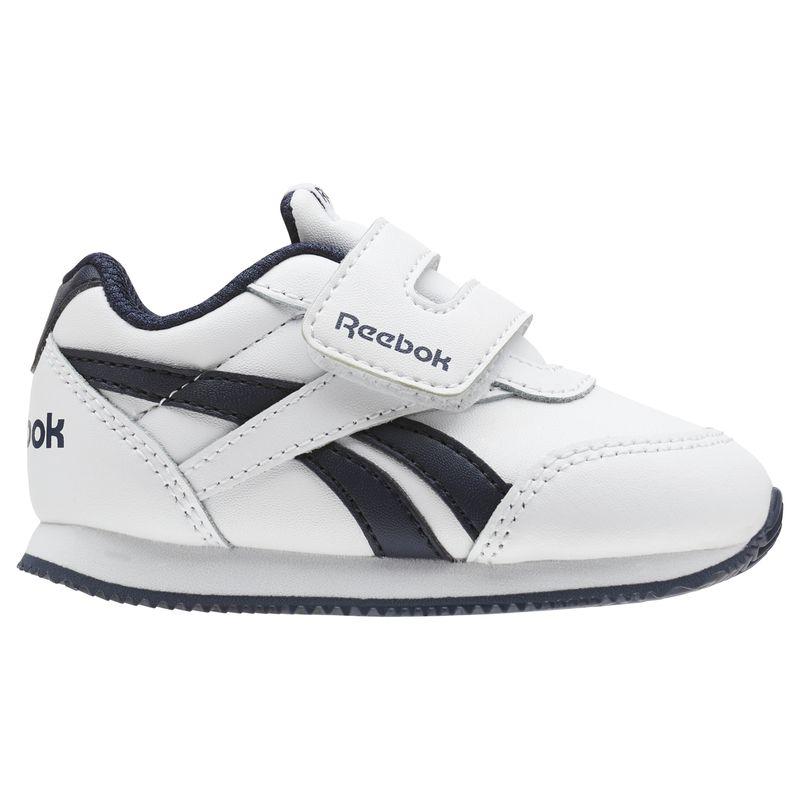 Zapatillas niña-o pequeño REEBOK ROYAL CLASSIC JOGGER 2 blanco y marino CN4938