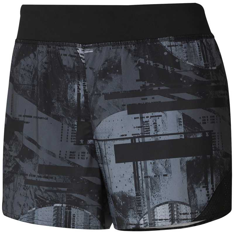 Pantalón corto de mujer REEBOK WOR MOONSHIFT negro y gris DU4781