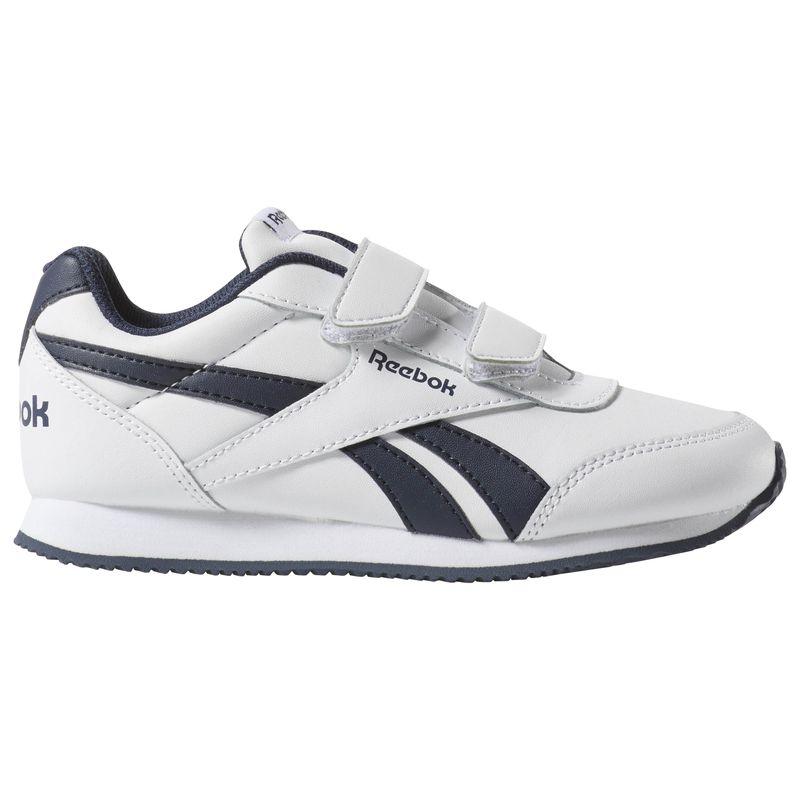 Zapatillas de niño-a REEBOK ROYAL CLASSIC JOGGER 2.0 blanco y marino CN4934
