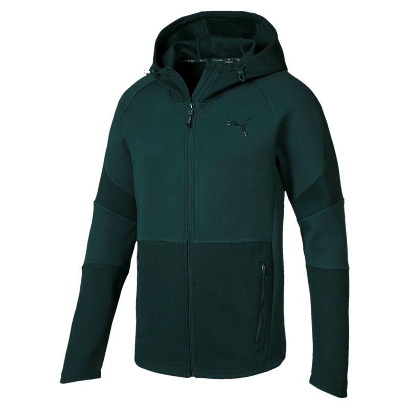 Chaqueta con capucha PUMA EVOSTRIPE MOVE verde oscuro 854151-30