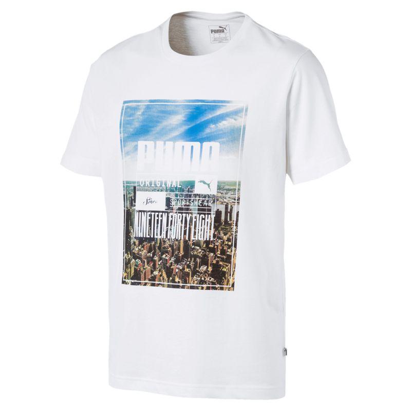 Camiseta manga corta PUMA PHOTOPRINT SKYLINE blanco 854994-02