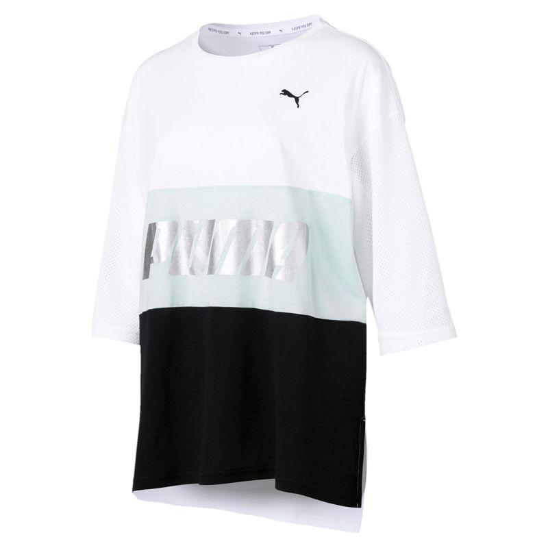 Camiseta de mujer PUMA MODERN SPORTS BOYFRIEND blanca 854229-52