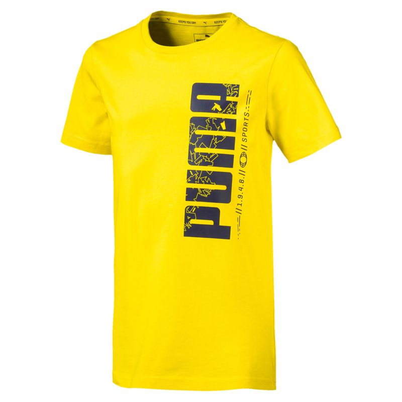 Camiseta de niño-a PUMA ACTIVE SPORT amarillo 854408-36