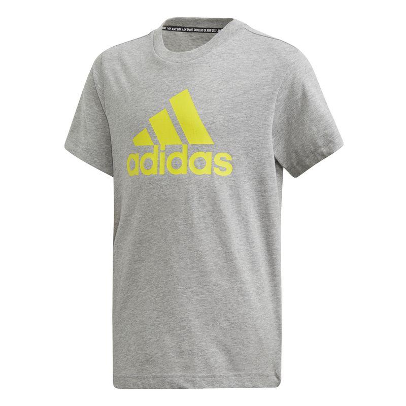Camiseta de niño ADIDAS BADGE OF SPORT MUST HAVES gris DV0823