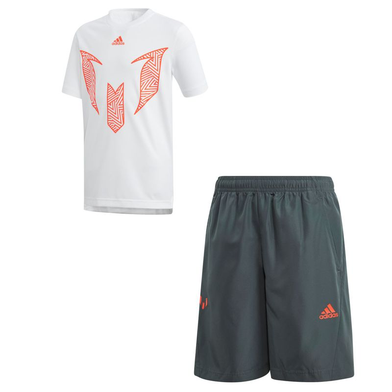 Conjunto camiseta y pantalón de niño ADIDAS MESSI SUMMER SET blanco y negro DV1325