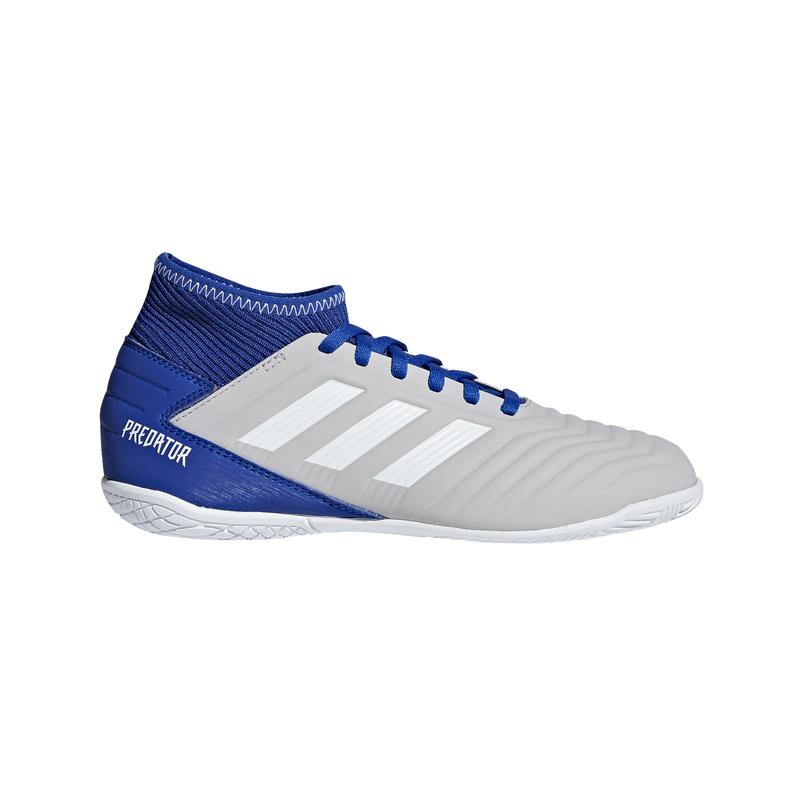 Bota fútbol sala de niño/a ADIDAS PREDATOR 19.3 IN J gris y azul CM8545