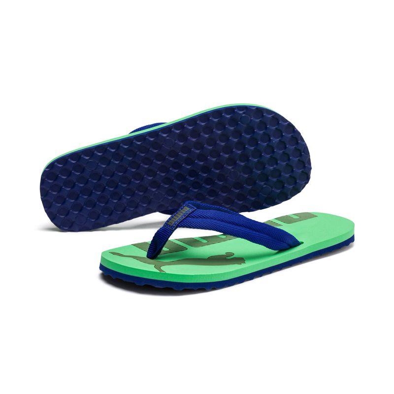 Sandalia de dedo de niño-a PUMA EPIC FLIP V2 verde y azul 360288-17