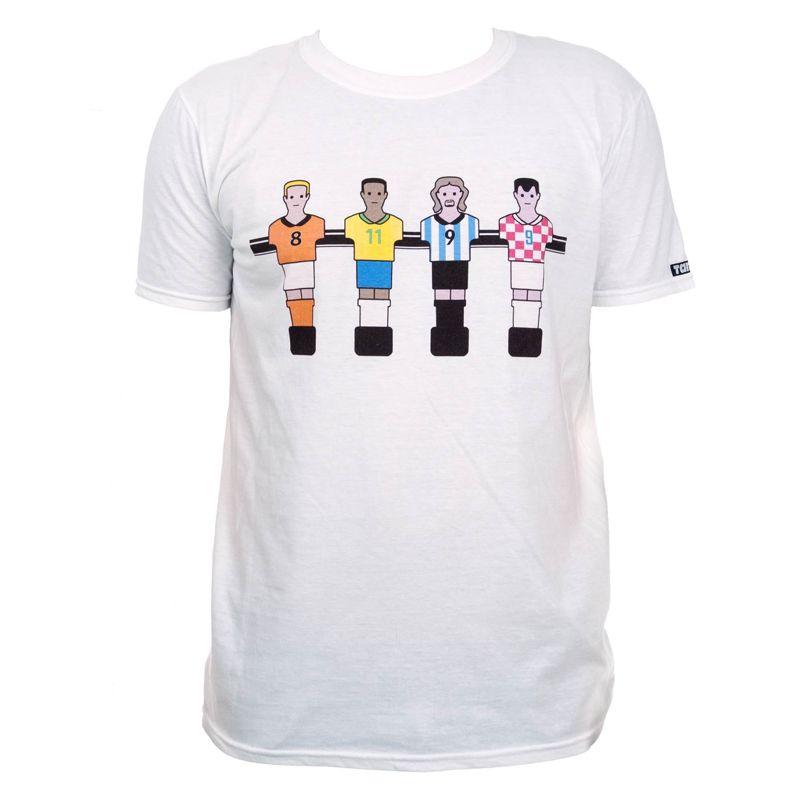 Camiseta manga corta TANKO FUTBOLIN blanca