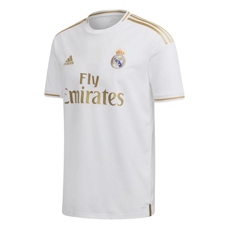 Camiseta 1ª Equipación Real Madrid ADIDAS REAL MADRID 2019/2020 blanca y dorada DW4433