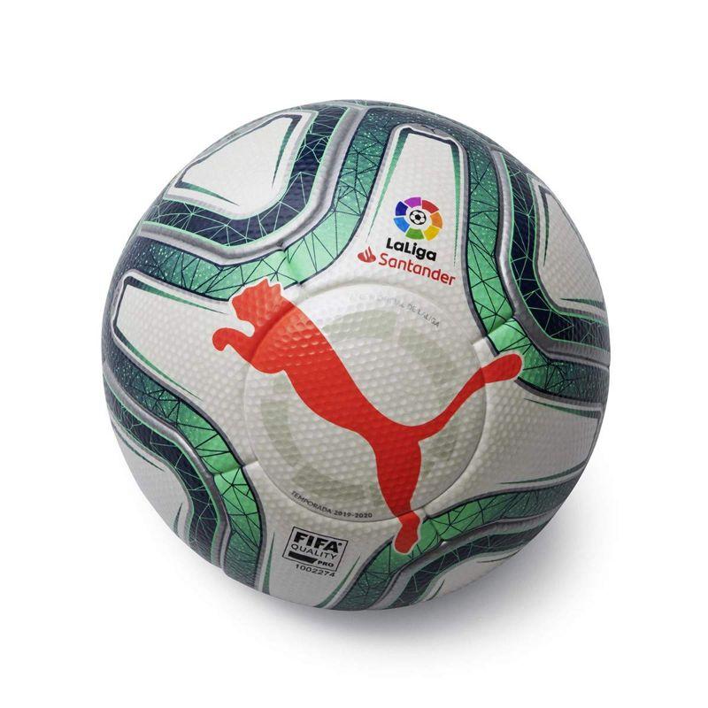 Balón de fútbol PUMA LALIGA 1 HYBRID blanco y verde 08339901